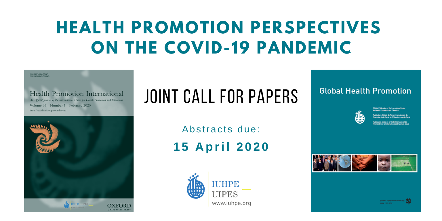 Joint call for papers COVID-19